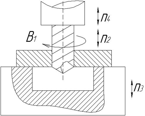 Схема обработки отверстия